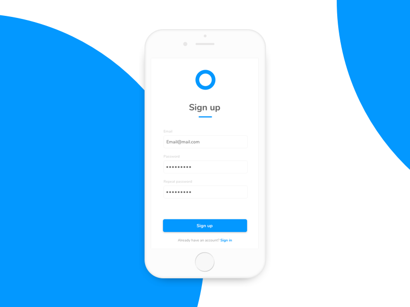 Daily UI 001 - Sign up design beginning start sign up signup clean simple app invite ui dailyui