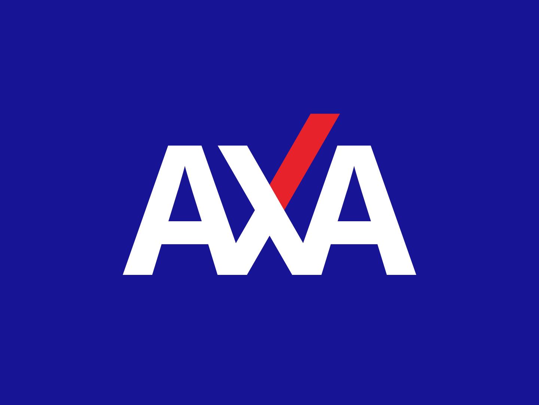 AXA' logo redesign concept international firm stationery axa graphic  design logo branding