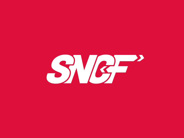 SNCF's logo. branding company railway redesign logo france train international graphic  design firm concept branding sncf