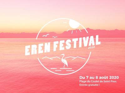 ErenFestival logo summer branding bird heron festival logo suisse festival