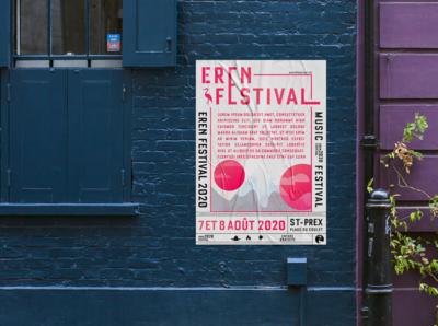 ErenFestival's poster ! v3 blue bird multicolors heron festival music illustration poster graphicdesign