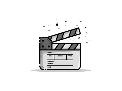 Clapperboard (23/30) filmmaker clapperboard illustration flatdesign icon vector dribbbleshot logodesigner adobe illustrator
