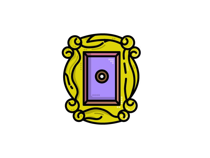 Door (Friends) Peephole (27/30) peephole door friends illustration flatdesign icon vector adobe illustrator logodesigner dribbbleshot