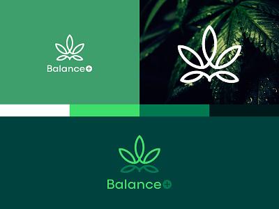 Logo concept for CBD product brand design balance cbd marijuana symbol design logodesign logo dribbbleshot vector logodesigner adobe illustrator