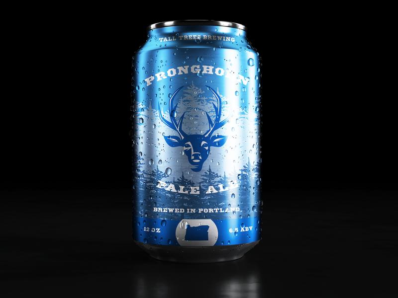 Pronghorn Pale Ale branding design package design