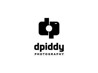 dpiddy photography logo photo geometric photography white black simple camera