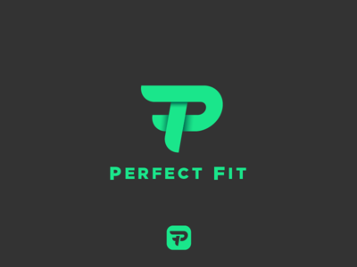 Logo for Perfect Fit - Workout App workout healthy green logos logo app geometric simple energy health