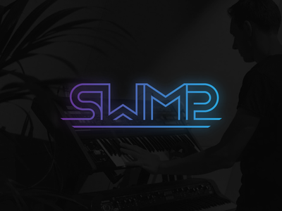 SWMP Music Producers vibrant producer neon singleline purple blue gradient production music