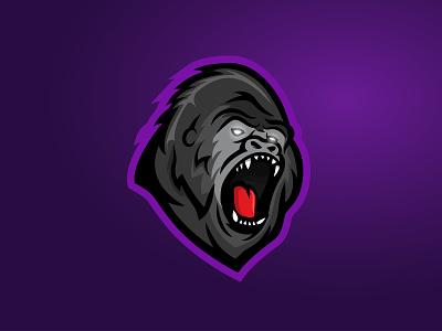 Gorilla E-Sport Logo gaming dynamic logo dynamic esportlogo mascot logo gorillas gorilla icon sport logos branding vector purple logo illustration design gradient esports esport mascot