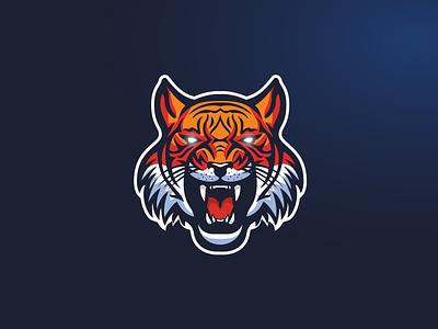 Tiger E-Sport Logo tigers tiger gaming dynamic logo dynamic esportlogo mascot logo icon sport logos branding vector purple logo illustration design gradient esports esport mascot