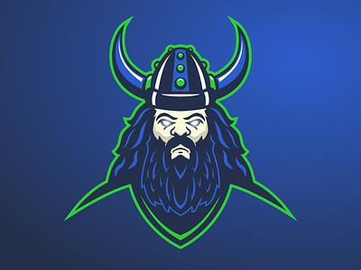Viking E-sport Logo vikings viking gaming dynamic logo dynamic esportlogo mascot logo icon sport logos branding vector purple logo illustration design gradient esports esport mascot