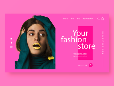 Fashion UI pink store design store store locator trending fashion vector ui ux design