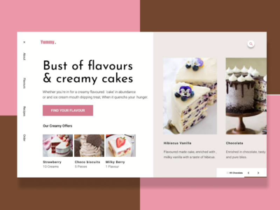 Cake Product Card product card project uxdesign ui figma cakes classical website baugasm graphicdesignui