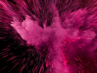 Particle Explosion |  Magenta Explosion