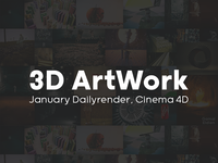 3D Artwork, January Daily-render Pack