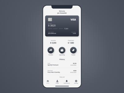 Banking App Wireframe wireframing figma mobile app design mobile app mobile ui finance bank hi-fi wireframe wireframe banking app banking ui