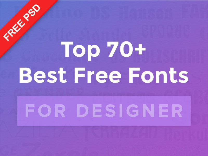 70 best free fonts for designers