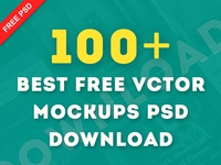 100 Best Free Vector Mockups PSD Download