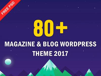 80+ Magazine & Blog WordPress Theme - Free Download download freebies template wordpress blog magazine