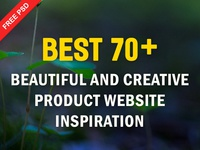 70+ Creative Product Website Designs Inspiration