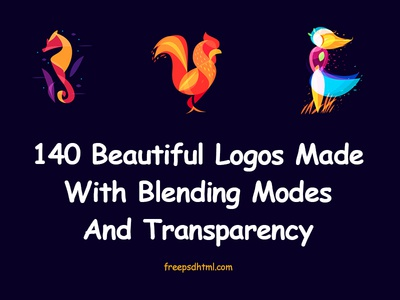 Beautiful Logos Made With Blending Modes And Transparency 2018 illustration vector resource inspiration transparency mode blending logo
