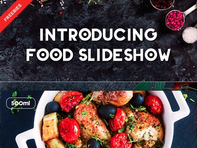 Introducing Food Slideshow – Free After Effect Template ui slideshow freebies download template effect after free