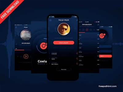 Music App Promo Presentation – Free After Effects Templates presentation promo music app package mockup after effect after slideshow designer ui creative freebies template download