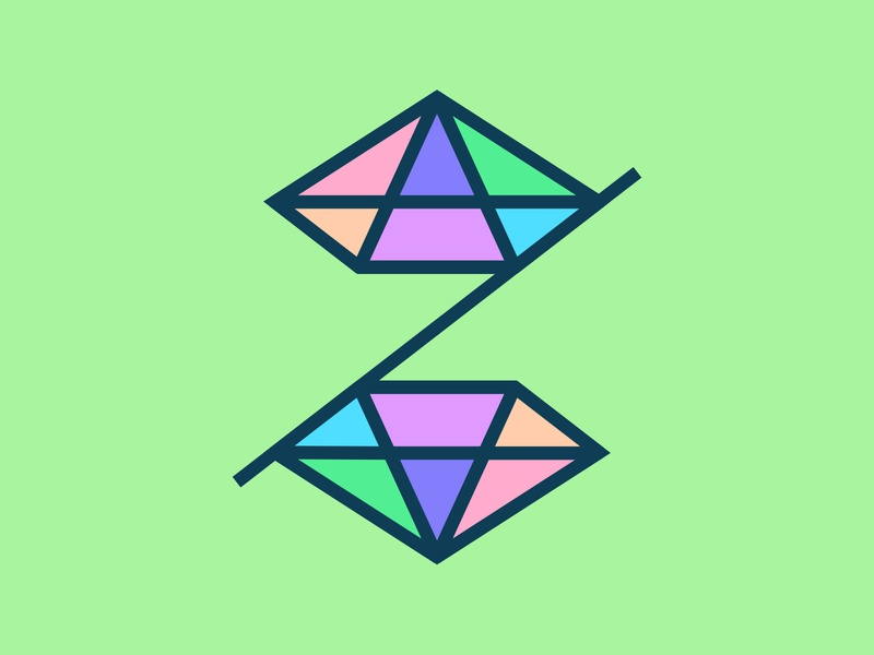 36 Days of Type / Z 36daysoftype letter colours rainbow symmetry logotype logo werock vector graphic design challenge typography type font diamond lettering
