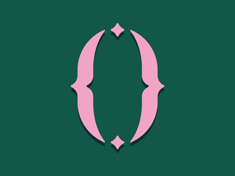 36 Days of Type / 0 star contrast green pink logo lettering challenge number 36days-zero 36daysoftype serif vector graphic design lettering art 0 zero typography type lettering