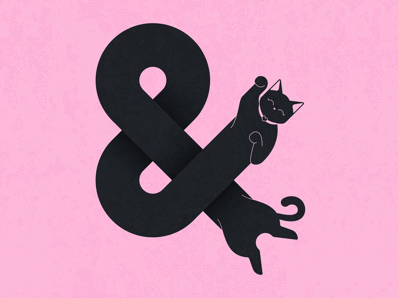 36 Days of Type / & lettering werock together heart paws chill pink black cute happy cat challenge typography 36daysoftype 36daysoftype07 and ampersandtogether ampersand