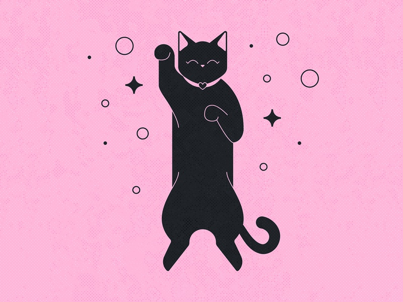 36 Days of Type / & / Cat love cats character symbol type stars black pink cute sleep illustration typography 36daysoftype07 36daysoftype ampersandtogether ampersand black cat cat