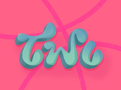 Two invites GIVEAWAY giveaway lettering art texture brushes procreateapp procreate logo basketball pink dribbble best shot 2 two dribbble invite illustration werock lettering type typography vector graphic design