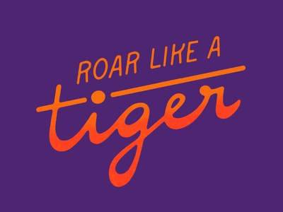 Roar like a Tiger logo illustration type typography procreate art sans serif digital handlettering script letters lettering procreate app procreate roar tiger
