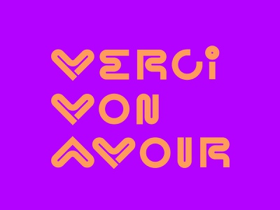 Merci Mon Amour heart vector lettering design font monoline letters typograhy lettering pink card french vday valentines love amour merci