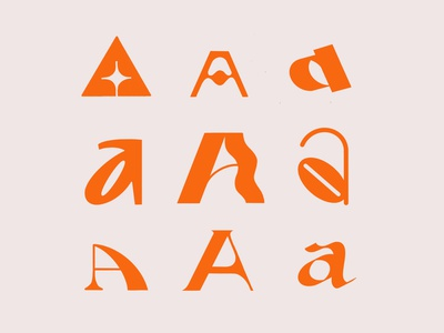 AAaaAaAAa logo werock experimental orange brush procreate app procreate typography type letter shape exploration practice 36dayoftype uppercase lowercase caps lettering