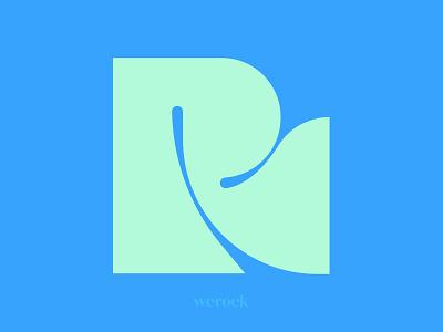 Letter R logo inspiration aqua green exploration typography type logotype vector blue chunky shape letter lettering