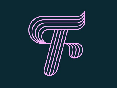 36 Days of Type / F design pink graphic design monoline logo werock vector typography type challenge 36 days of type font letter lettering