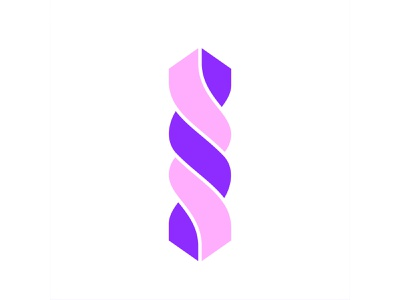 36 Days of Type / I custom lettering colourful font display structure column challenge 36 days of type purple letter illustration 36daysoftype pink werock typography lettering type vector graphic design