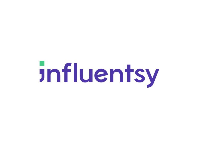 Influentsy Logo typhography typographic type green purple danish english translation copywriting communication startup graphic  design logo design logo branding