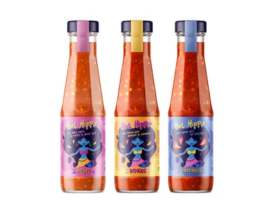 Hot Hippie [Chilli Sauce Label Design]
