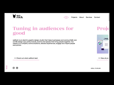 WeRock Studio homepage teaser