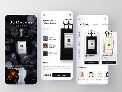 Perfume e-commerce - Jo Malone fragrance ecommerce perfume jo malone mobile design design user interface ui design rdd