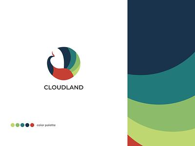 Logo for Cloudland restaurant restaurant color rdd branding logo