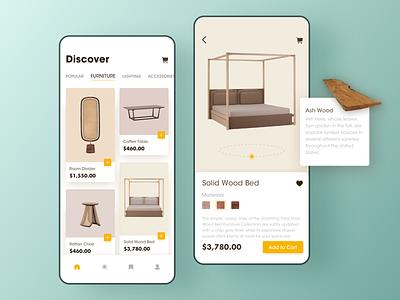 Furniture E-Commerce APP rdd user interface furniture store furniture app furniture ui app mobile