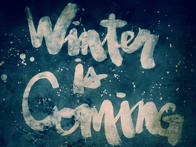 Winter is Coming brush script hand lettering typography sumi sumi ink lettering brush lettering