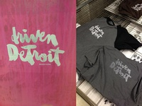 Driven Detroit screenprinted shirts