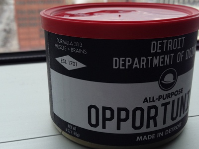 Can of Opportunity thinkville can opportunity detroit think thinkers thinking ideas opportunity detroit