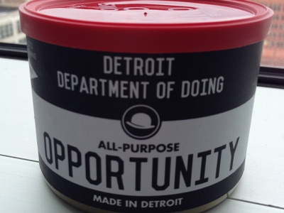 Can of Opportunity can opportunity detroit think thinkers thinking ideas thinkville opportunity detroit
