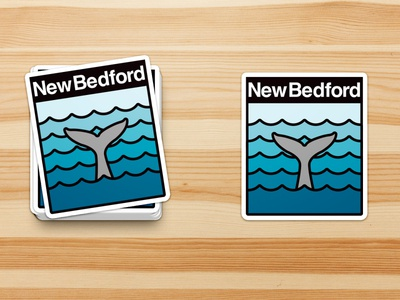 New Bedford Stickers logo nb wave ocean illustrator vector sticker whale new bedford