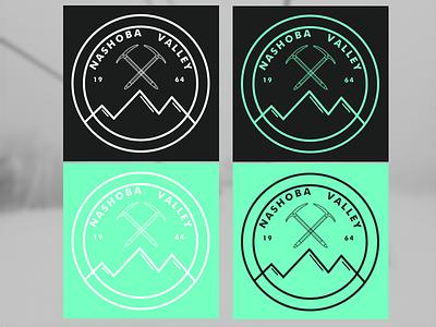 Nashoba Valley Logo - Background sketch illustrator branding logo winter nashoba snowboard ski